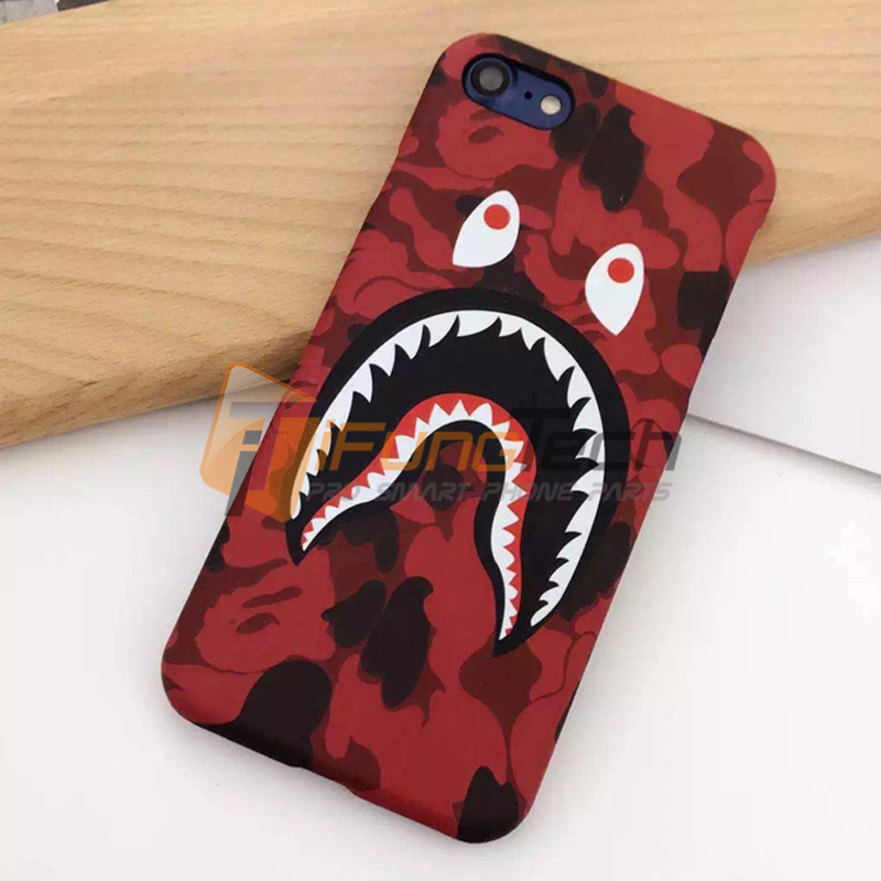 Hot Sale Cool Fashion Bape Shark Case For iPhone 7 6 6s 6 Plus Bape Shark Army Phone Case Cover