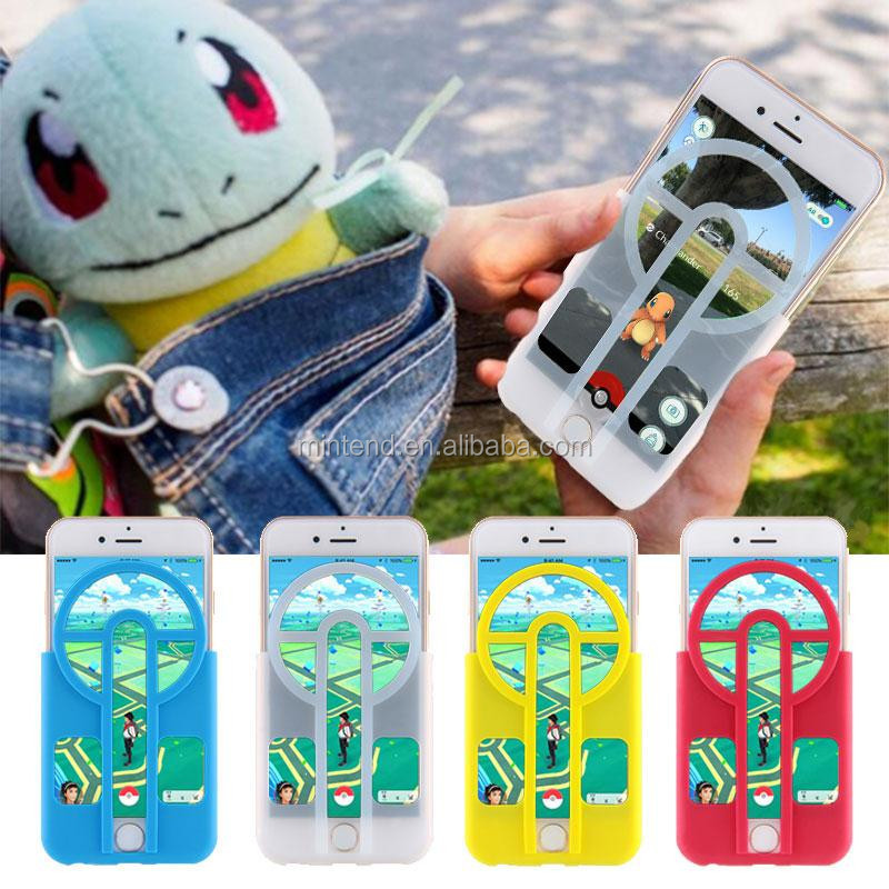 wholesale 2016 top quality silicon phone case pokemon go plus for mobile phone