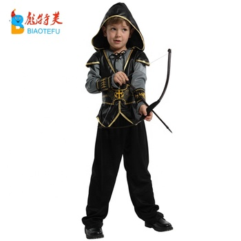 high quality boy robin hood cosplay costumes set