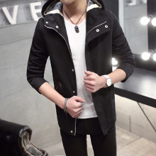 Free Shipping 2016 Spring new style fashion <strong>Men's</strong> casual <strong>jackets</strong> coat hooded <strong>jackets</strong> M-3XL