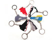 2015 hot sell mix model mix color 2d air jordans basketball shoes shape key chain