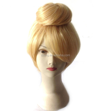 Cosplay wigs fashion golden wigs Updo new style from factory