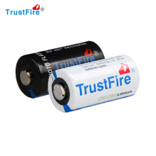 TrustFire Non rechargeable LiMnO2 lithium battery 3V 1300mAh CR123A Battery for camera, flashlight, led