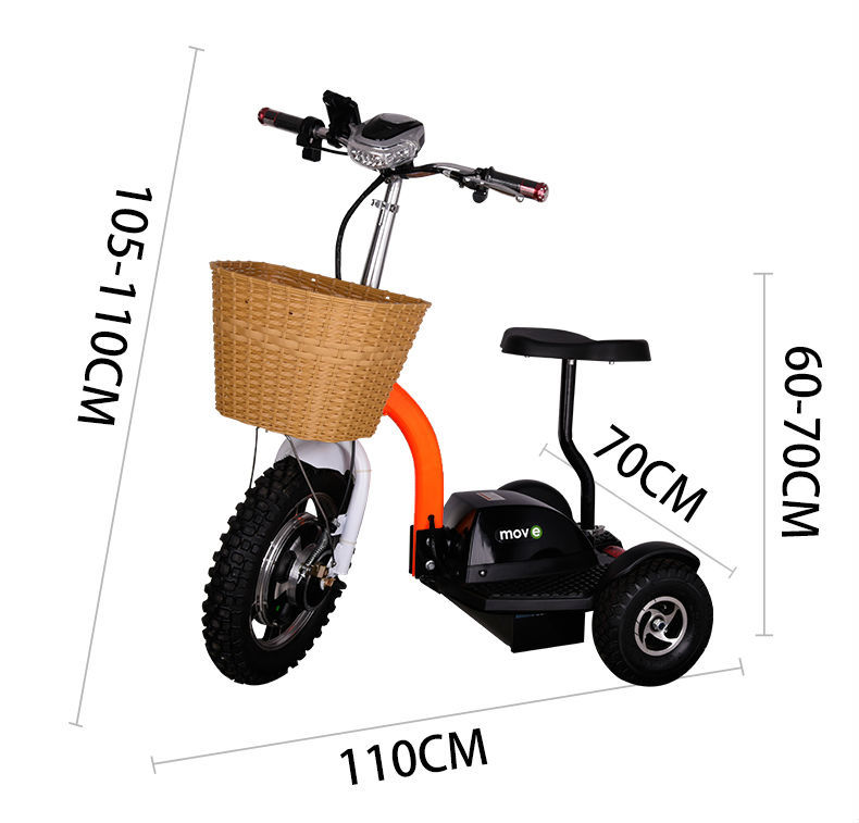 1000W 3 wheeler electric scooter mobility handicapped scooters for sales