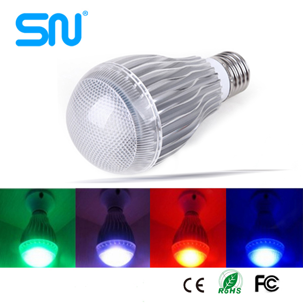 china wholesale dimmable 5w e27 remote control 16 color rgb led <strong>bulb</strong> light