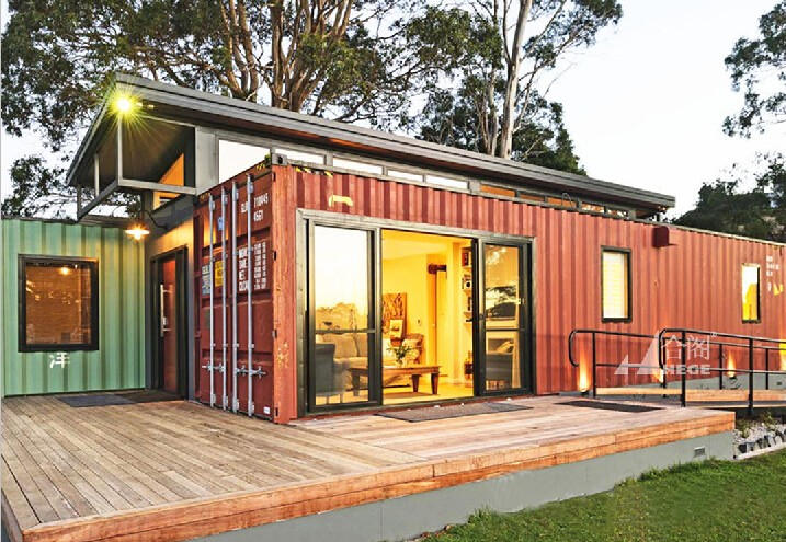 Container Home for show room with decoration sheet kits