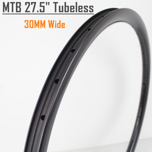 Winowsports 2017 650B MTB rim 27.5er mtb bike rims full carbon DH Tubless 30mm wide bicycle rims
