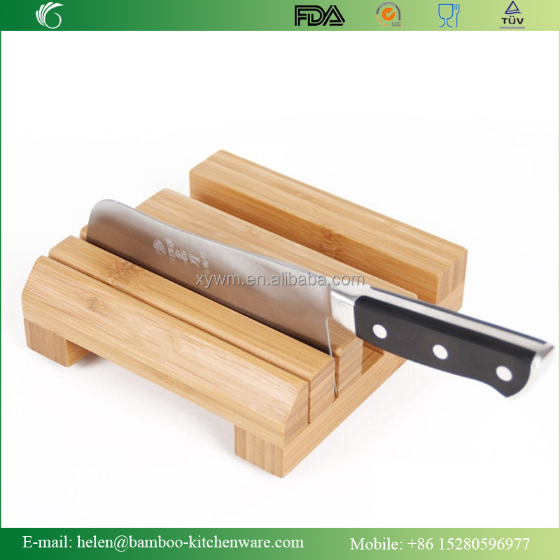 Bamboo Knife Holder / Bamboo Cutting Board Holder Rack Cutlery Cutter Storage Block