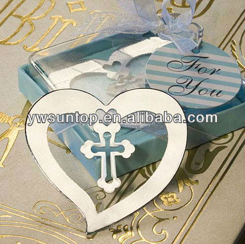 Wedding Decoration Heart And Cross Metal Bookmark Party Gifts