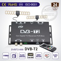 dvb-t2 universal digital cable box with Double antenna, 1080P HD, PVR for free hd movies