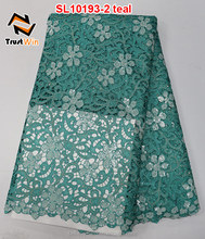 Super quality sequins lace fabric corded lace of SL10193