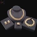2018 African Fashion Copper Alloy Jewelry Sets Bridal Wheat Jewelry Sets for Women