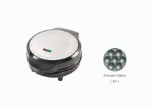 Black and stainless steel Non stick mini electric pancake maker