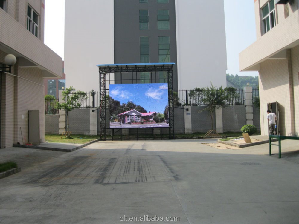 shenzhen sexy xxx video display board/outdoor led display screen panel/10mm road led signboard