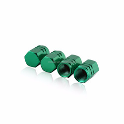 Green Godeson Aluminum Tire Valve Stem Cap Tire Wheel Stem Air Valve Caps for Auto Car