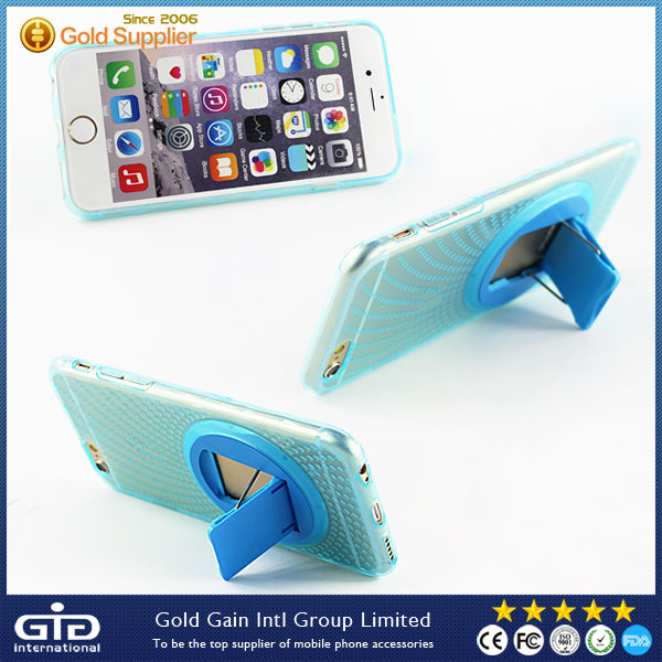 [GGIT]Portable 360 Degree Rotating TPU Case for iPhone 6 Rotation Kickstand Case