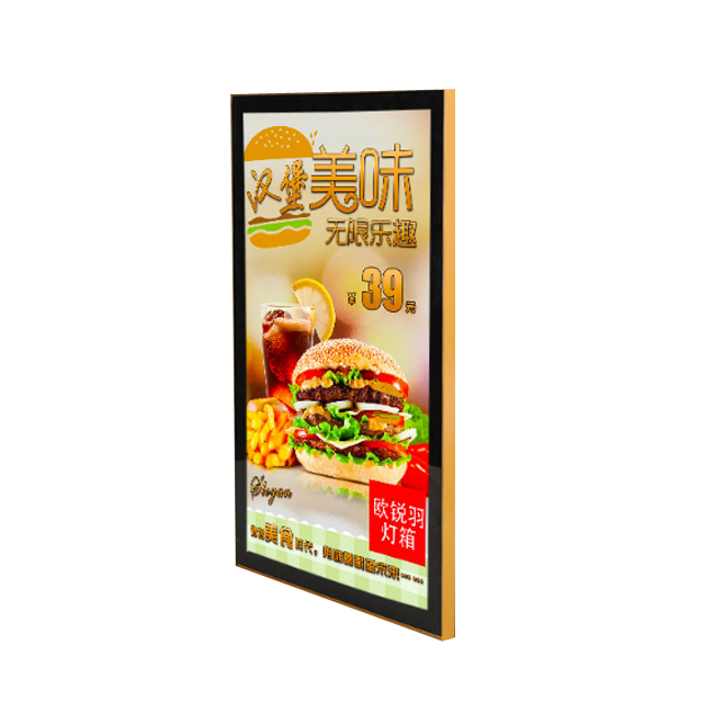 Burger shop price list menu board <strong>led</strong> poster frame magnetic slim light <strong>box</strong>
