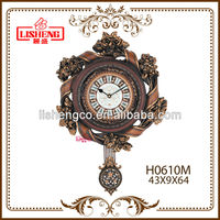 Exquisite ribbon shaped wall clock H0610M