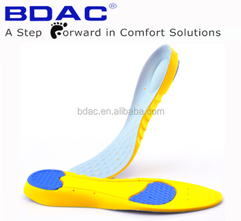 soft breathable comfort pu footbed pu foam insole