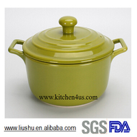 Hot selling new design glazed ceramic casserole pot soup pot