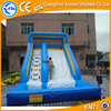 2016 Hot selling blue and white commercial inflatable water slide with pool