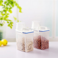 Foldable Whole Grains Storage Box Airtight Transparent PP Plastic