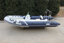 Zodiac rigid hull fiberglass inflatable boat for sale!RIB-520