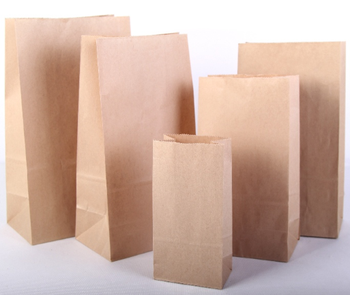 Customized Printing white kraft paper bags sandwich packing Bread Package Bag