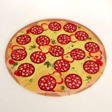 High Quality Fun Pizza Puzzle Board Custom Paper Jigsaw Puzzle Games Mat for Kids Toys