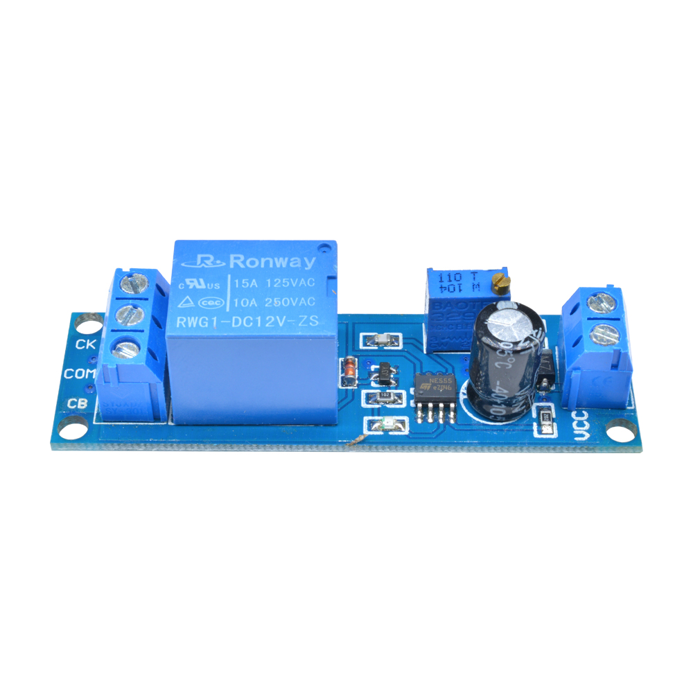 Blue DC 12V NE555 Delay Delay Timer Trig ger Switch Module Adjustable 0 to 10 Second NE555 Oscillator