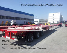 ChinaTrailers Produced Extendable Wind Blade Trailer for Transport Trucks for Wind Power Generation Station