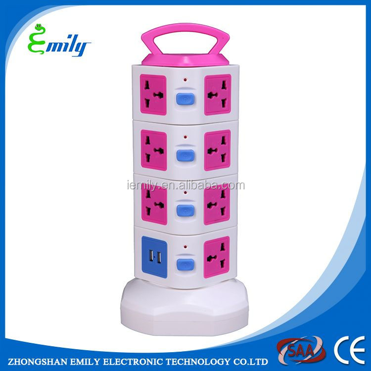 Hot selling 50HZ frequency power socket 4way
