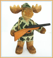 2015 hot sale wooden craft deer soldier