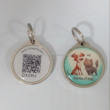Zinc alloy frame qr nfc pet tags / nfc pet tags with qr code and id number