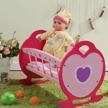 "Trendy Wholesale 18"" Doll Accessories, E1 Degree MDF Assembling Heart Design Doll Bed, 18 Inches Doll Furniture"
