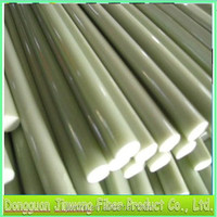 Tapered solid fiberglass rods for fishing tackle