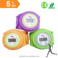 fashion style quality chip calorie pedometer watch with wristband