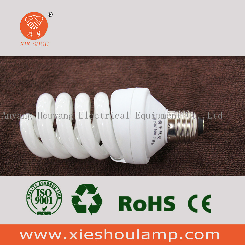 32W 220V 6700K full spiral energy saving cfl bulb lamp with CE and RoHs