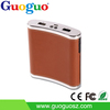 Guoguo New design factory price dual usb wine bottle portable 10000mAh power bank for samsung