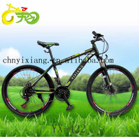 Adult mountain bicycle with full suspension mountain bike frame