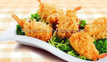 high quality Frozen breaded butterfly vannamei shrimp