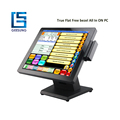 Fanless flat touch panel 15 inch pos pc/tablet pos terminal AIO-1589