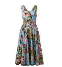 Wholesale 2015 Fashionable Ladies Print Dress Pinup Swing Vintage Girls Party Dresses