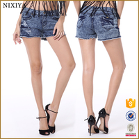 Women Shorts Jeans,Mini Sexy Girls Jean Shorts, lady ripped mini jeans