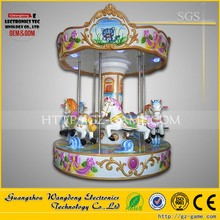 3 seats mini carousel horses rides carousel animal park merry go round kiddie ride