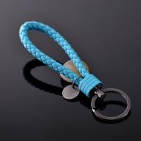 Fashion Braided PU Leather Strap Keyring Keychain Car Key Chain Ring Key Fob