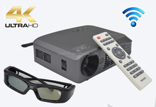 Wifi Pico Projector, 1500 lumens DLP Home Theater 3D Smart Portable Projector, 1280x800p Smart beam Projector