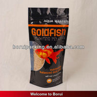black plastic ziplock bags with window,stand up fish food bag
