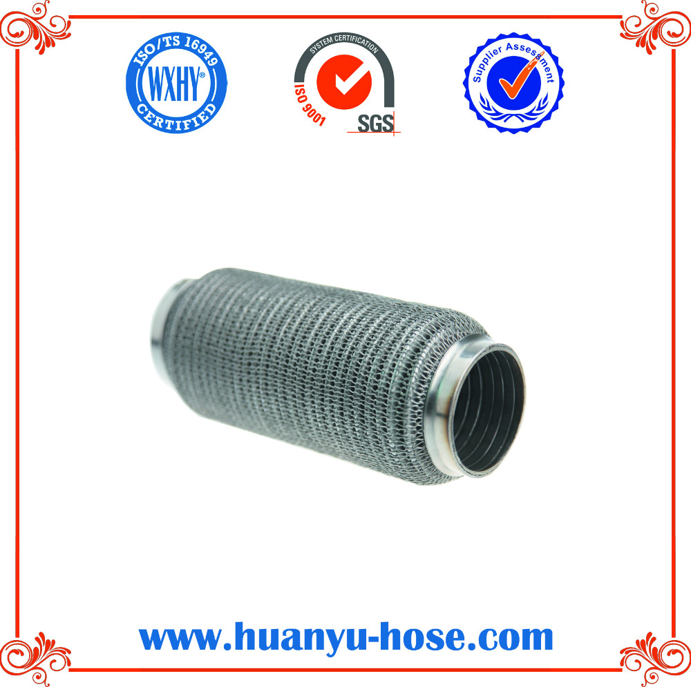 stainless steel Auto Exhaust Flexible Pipe with nipples