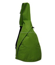 BeeGreen Promo 610D Nylon Plain Color Sling Backpack With Front Diagonal Pocket